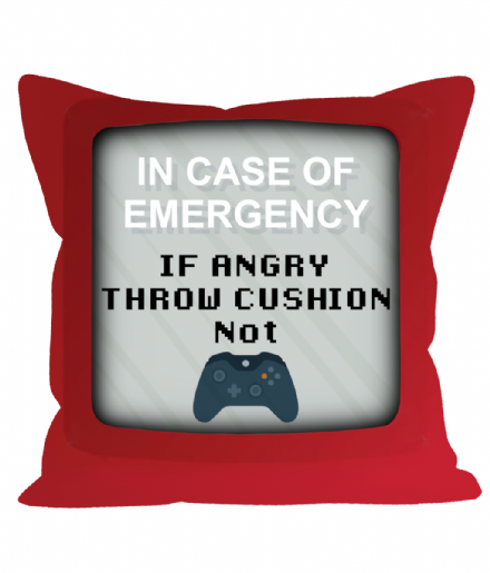 In Case of Emergency Joke Rage Quit Sofa Cushion Throw Pillow